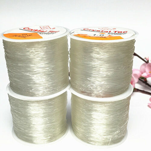 0.5-1.0mm Strong Crystal Transparent Elastic Cord String Rope Wire For Bracelet