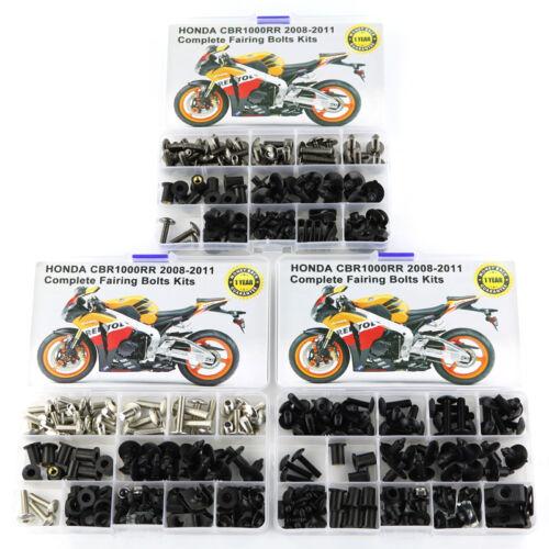 For 2008-2011 Honda CBR1000RR 2009 2010 Motorcycle Complete Fairing Bolts Kit