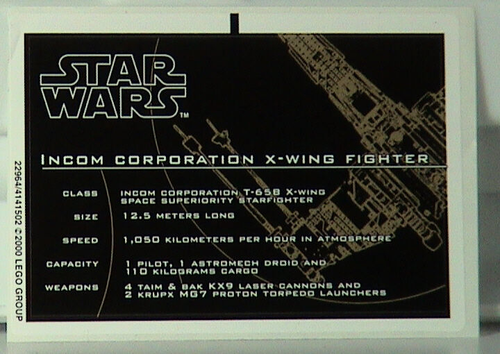 Nuovo Lego Star Wars 7191 Foglio di Adesivi #2
