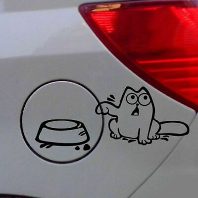 "2018 Funny eating oil Cat  /""Feed Me!/""  Window Vinyl Car Sticker Decals DIY Decor"