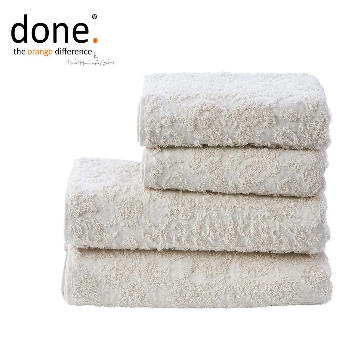 più preferenziale Done. ® Provenza ORNAMENTS Asciugamano Asciugamano Asciugamano Set 4 pezzi beige 100% cotone con frange  nuovo stile