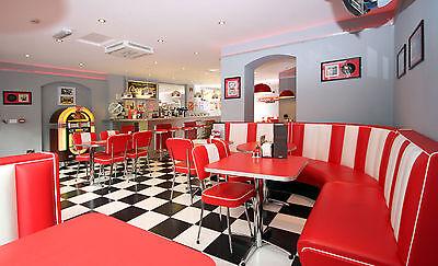 Encadrée Imprimer-American Diner Photo Elvis Marilyn Monroe Sinatra James Dean