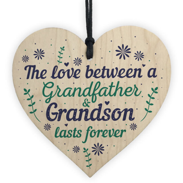 Grandfather Gift Ideas Wooden Heart Grandpa Grandad Birthday Christmas Gifts For Sale Online