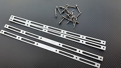 4 x Satin Stainless BSAU 110mm Diameter Rivet straps and 16x4mm stainless rivets