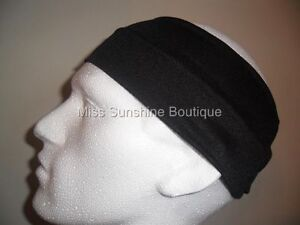 Unisex-Sports-Black-Elastic-9cm-Wide-Flexible-Headband