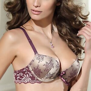 Women-Lace-Sheer-Floral-Thin-Underwear-Push-Up-Bra-Sets-Panty-32-34-36-38B-C