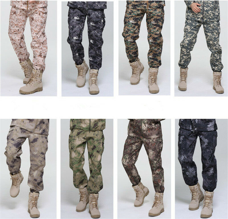 Men Classic Outdoors Military Trousers Shark Skin Soft Shell Tactical Waterproof