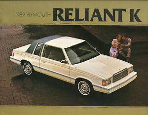 1982 Plymouth Reliant K Car Brochure Catalog Wagon Ebay
