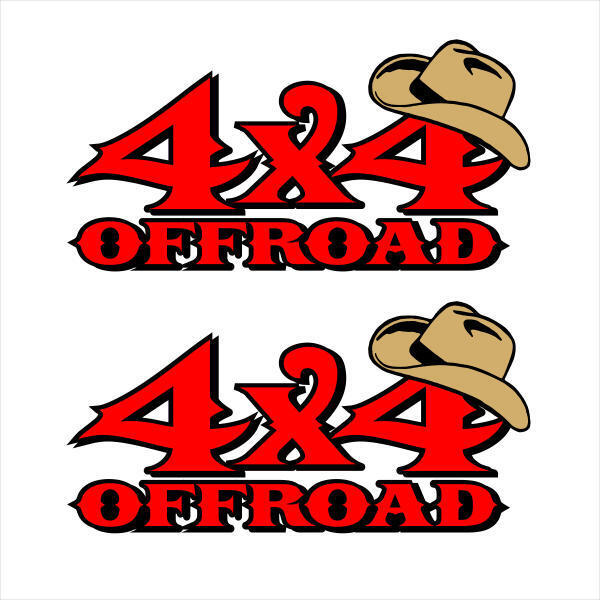 """4X4 Offroad Western Barbed Wire Set of 2 Vinyl Decal Stickers 13/""""x5/"""""""