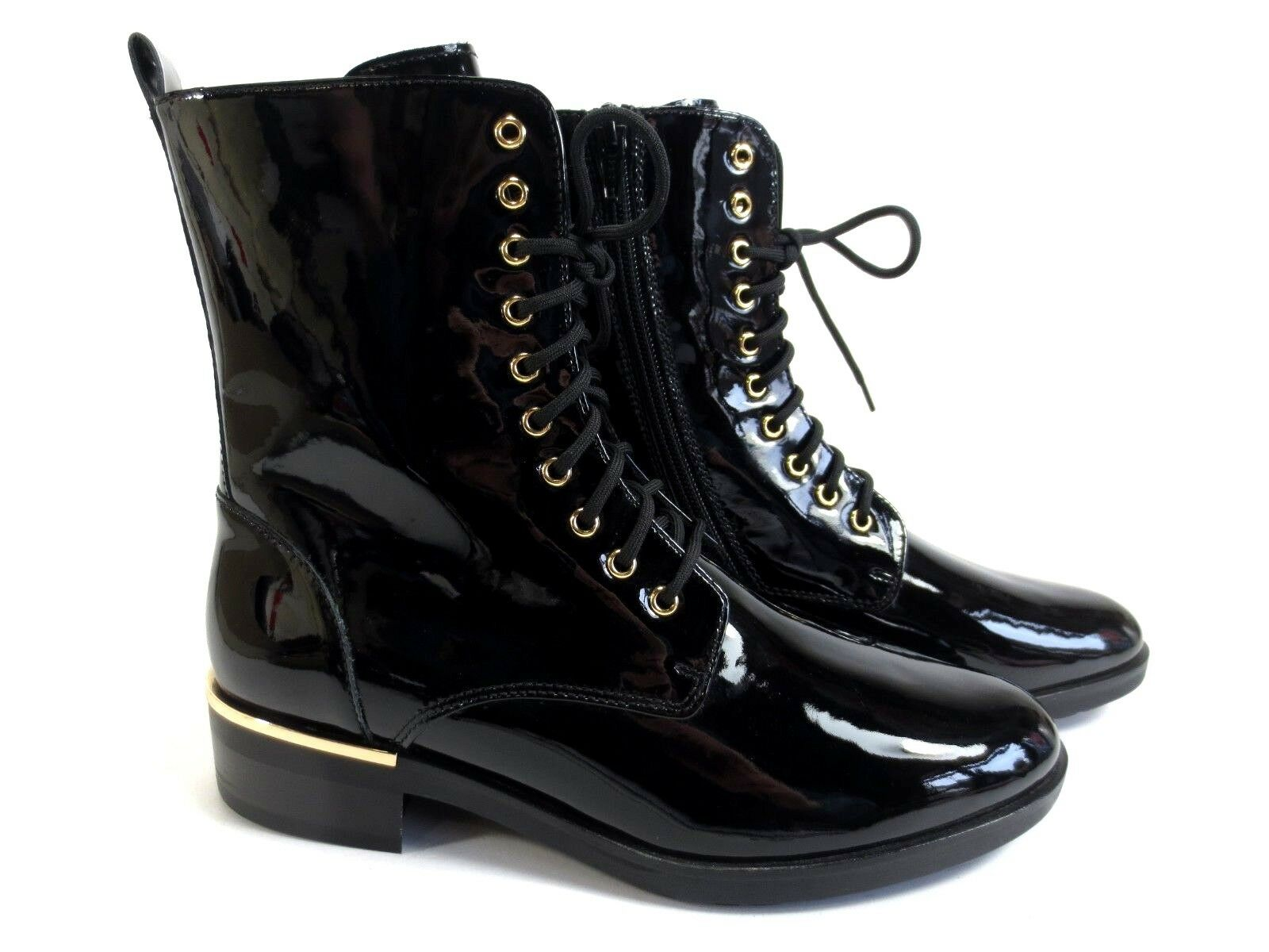 Högl bottes bottines Cuir verni Chaussures Chaussures Chaussures Noir Or Neuf 179,90 b866ce
