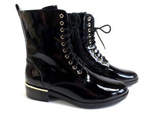 factory price 33cce 4ecfb Details zu HÖGL Boots Stiefeletten Lack Leder Schuhe schwarz gold NEU 179,90