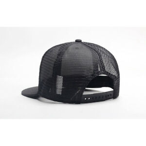 67dc6d5268c Image is loading Trucker-Hat-Mesh-Snapback-Plain-Baseball-Cap-Adjustable-
