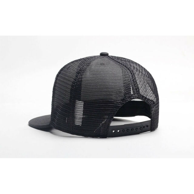 0f5a578ea8f Trucker Hat Mesh Snapback Plain Baseball Cap Adjustable Flat Blank Men Caps  Hats