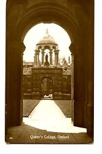 Artistic Arch-Queen's College-Oxford-England-RPPC-Real Photo Vintage Postcard