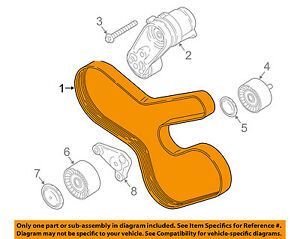 details about bmw oem 11 16 x3 serpentine drive fan belt 11287628661 For Nissan Altima 2.5 Belt Diagram