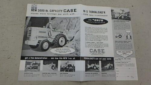 OLD 2 PAGE CASE W-5 TERRATRAC DRIVE CRAWLER DOZER CATALOG CF6072-78