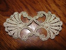 White Venise Lace Dragonfly Sew On Applique 2.25 Inches