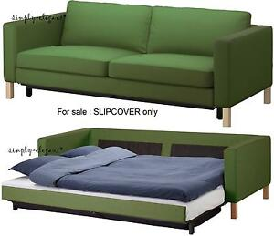 Ikea Cover for KARLSTAD Sofabed Sofa Bed Sleeper Slipcover Sivik Green NEW FS