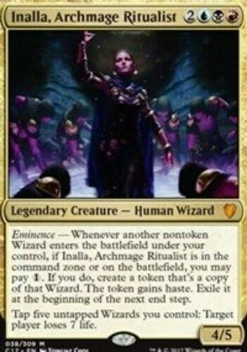 Foil NM-Mint 1x Inalla Archmage Ritualist Japanese Commander 2017 MTG Magic