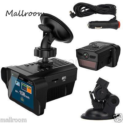2in 1 Car Electronic Dog Radar Detector Rearview Mirror DVR Video Camera Recorde