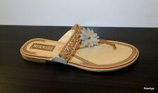 Claquette chaussures femme mule nus pieds tong sandales strass été cuir BEIGE 38