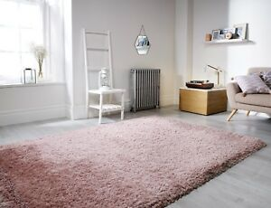 Image Is Loading Extra Thick Pearl Dusky Pink Gy Rug