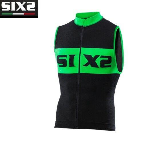 Trikot Ärmellos Trägerhemd Fahrrad Jersey Fahrrad SIXS schwarz grün BIKE2 luxus