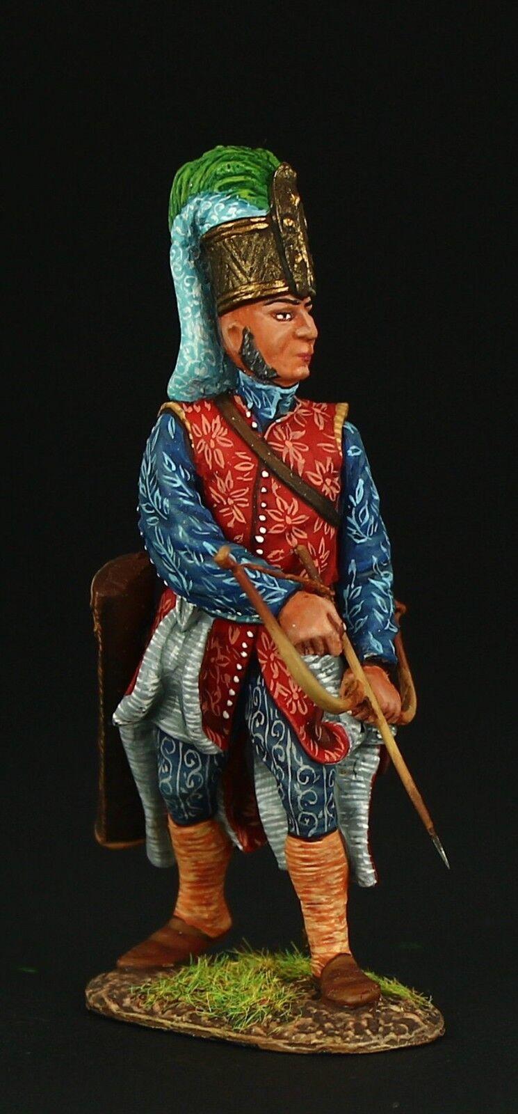 Elite   Janissary archer, XVII c. Tin toy soldier 54 mm,metal sculpture