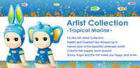 Sonny Angel Artist Collection Series 6. Tropical Marine - Rabbit & Elephant Set