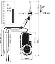 NEW Hirschmann Automatic Electric Power AM FM Radio Antenna Fits BMW & Mercedes