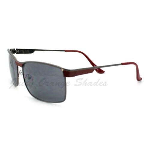 Mens Fashion Sunglasses Designer Rectangular Metal Frame