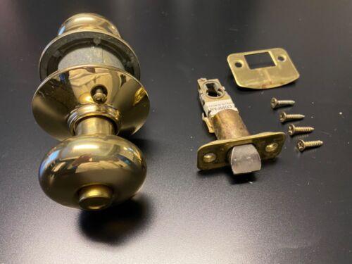 Schlage Brass Finish Interior Door Knob Privacy Bedroom//Bathroom w//Hardware