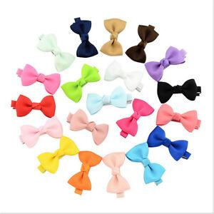 20x-Hair-Bows-Band-Boutique-Alligator-Clip-Grosgrain-Ribbon-Girls-Babys-Kids