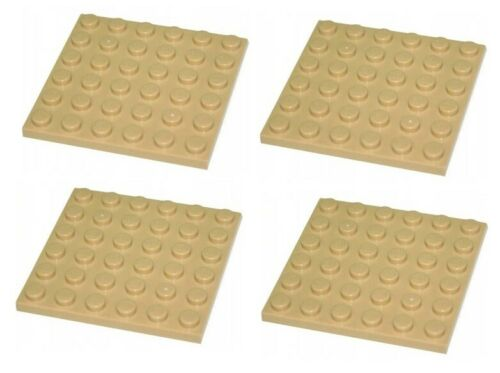 Lego 4x Tan Plate 6x6 3958 NEW!!!