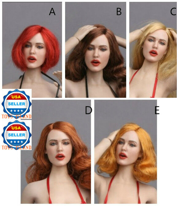 1 6 Sexy Lady Head Sculpt GC017 For 12  Female Figure Phicen Kumik Hot Toys❶USA❶