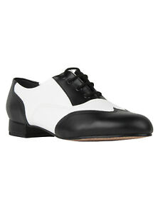 ARIS ALLEN Damen Swing Balboa Lindy Hop Tanzschuhe schwarz Spitze Wingtip NEU