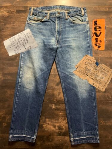 Vintage Levis 505 Orange Tab 70s 36x29