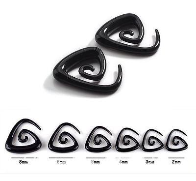 Piercing ecarteur expander spiral noir de 2.5 mm à 8 mm