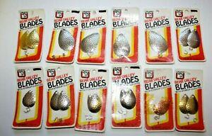 Luhr Jensen Bear Valley Blades Colorado Hammered Silver Gold Brass 4,5,6,8,10