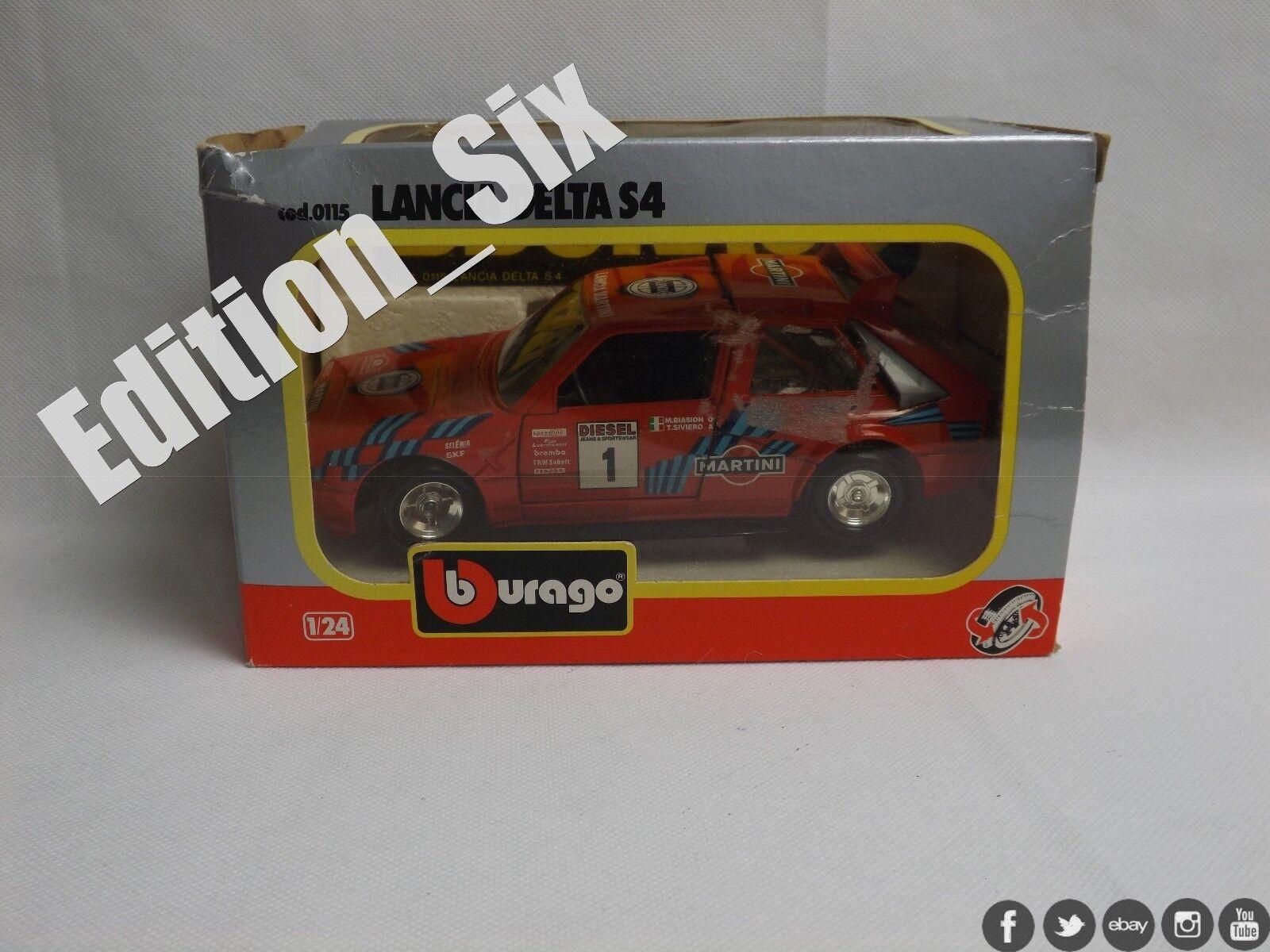 Burago 1 24 Lancia Delta S4 Red Italian Retro Classic Sports Rally car Boxed