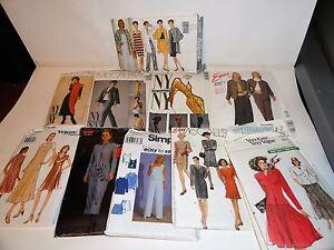 WOMEN'S SEWING PATTERN LOT 11 MCCALLS SIMPLICITY VOGUE DRESS PANTS SUIT