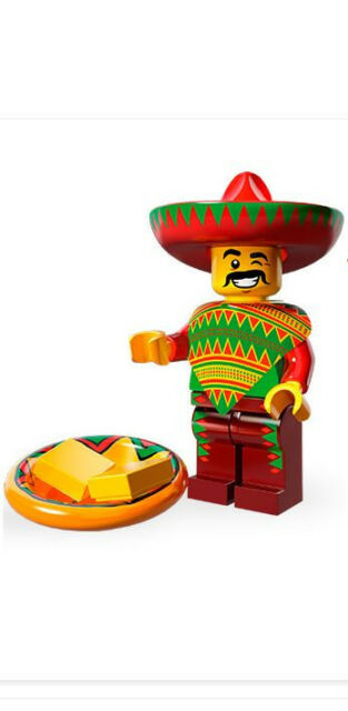 Lego Minifigures/Minifigures 71004 - Series Lego Movie - Taco Tuesday Man New
