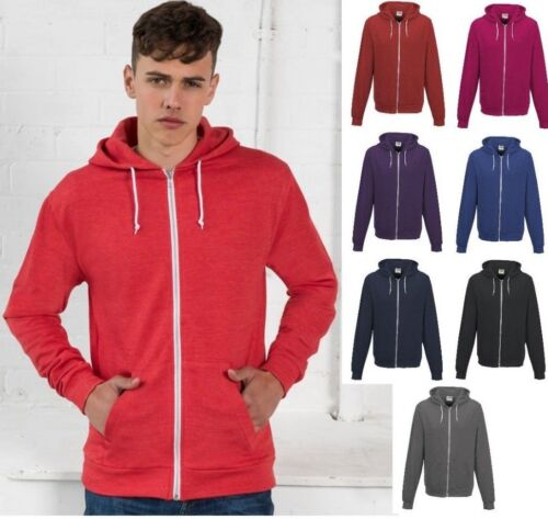 AWDis Men Heather Zoodie Soft Lightweight Full Zip HOODIE Jacket in Many Colours