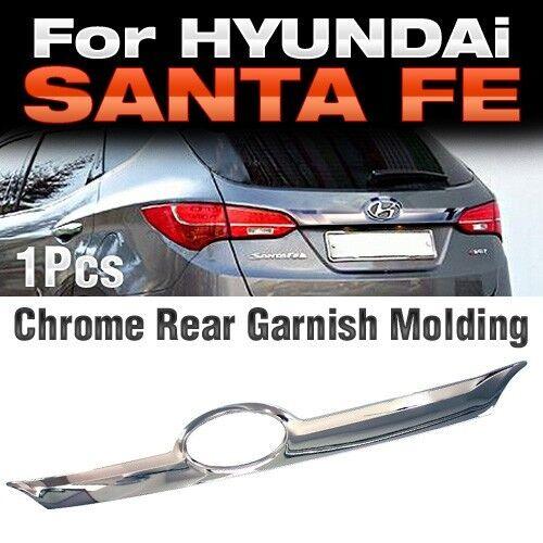 Chrome Silver Rear Trunk Garnish Molding Trim for HYUNDAI 2013-2017 Santa Fe DM