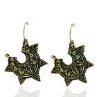 Women's Vintage Bronze Silver Retro Long Earrings Drop Dangle Boho Jewellery