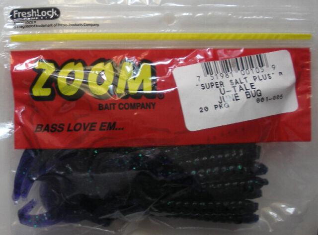 """Zoom 001005 U-tale Worm 6 3//4/"""" 20pk Junebug for sale online"""