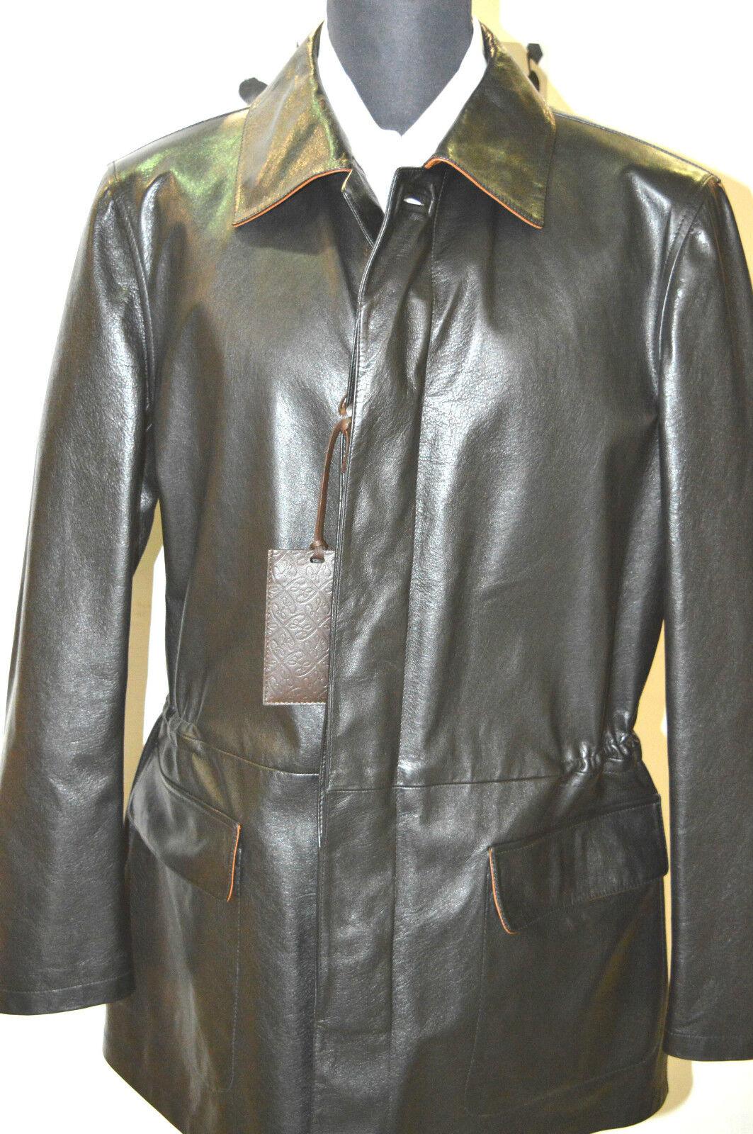 NEW 6850,00  BRIONI -Coat  Leder  Größe Us M Eu 50 Cod 45