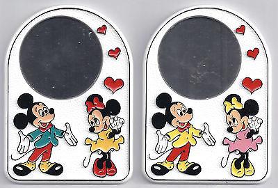 2 Stück Disney Taschenspiegel Mickey Mouse 90er Jahre Ca. 11cm Neuware Von Brabo