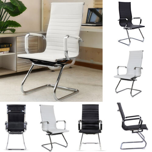 PU Leather High Back Home Office Visitor Meeting Boardroom Chair Dining Chairs Black,White