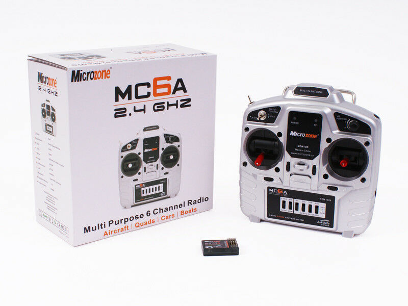 Microzone MC6A 6 Channel Radio Control Quad Plane RC Transmitter Combo New Boxed
